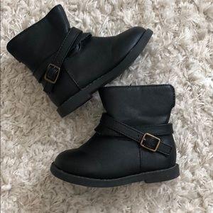 Baby Gap toddler black booties